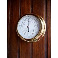 Baromètre thermomètre hygromètre boitier  laiton
