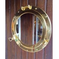miroir hublot laiton ouvrant 37,5 cm décoration marine