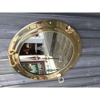 Grand miroir hublot laiton ouvrant 47 cm décoration marine