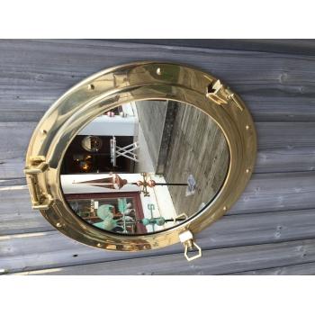 Miroir hublot laiton ouvrant 47 cm d coration marine for Hublot ouvrant encastrable