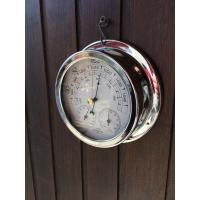 Baromètre thermomètre hygromètre boitier  nickel
