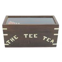 boite à thé en palissandre et laiton