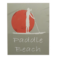 Plaque bois paddle beach