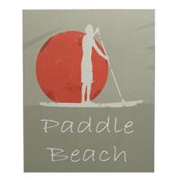Plaque bois paddle beach