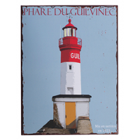 Plaque metal phare Le Guilvinec