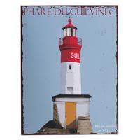 Plaque metal phare Le Guilvinec