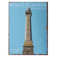 Plaque metal phare eckmuhl