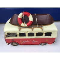 maquette de mini bus métal rouge hawaii