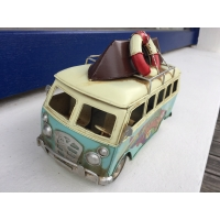 maquette de mini bus métal bleu mai 68
