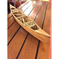maquette de canoe bois vernis
