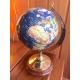 Globe terrestre sur pied bois et laiton