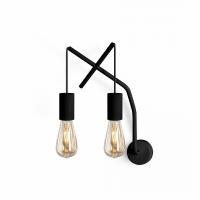 Applique design double noire Moretti Luce
