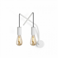 Applique design double blanc Moretti Luce