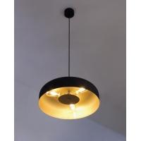 lustre laiton noir mat  3 lampes Moretti Luce