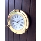 Horloge hublot en laiton poli