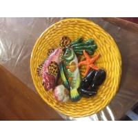 assiette barbotine poisson monaco par Lamarche