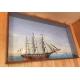Maquette diorama antiquité marine bateau 3 mats