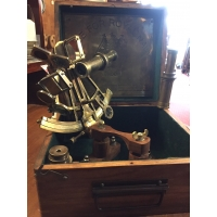 Sextant de marine Barrow 2 telescopes et coffret