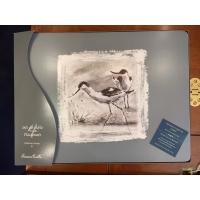4 sets de table Danielle Belin oiseaux marins lavables en liège