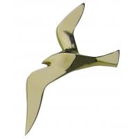 Oiseau marin mural laiton mouette 30 cm