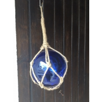 Flotteur de filet de pêche en verre bleu