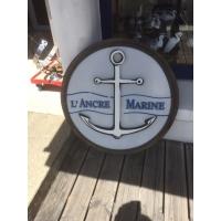 Enseigne de bistrot ancre de marine