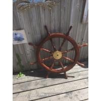 barre à roue 92 cm bois laiton