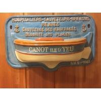 Tronc de canot de sauvetage hospitaliers sauveteurs bretons ile d'yeu