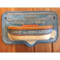 Tronc de canot de sauvetage hospitaliers sauveteurs bretons Concarneau