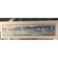 huile sur panneau embouchure de L'odet Sainte Marine signée Marie Belmon