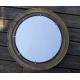 Grand miroir hublot laiton ouvrant 51 cm décoration marine