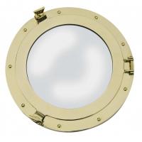 miroir hublot laiton 31cm ouvrant