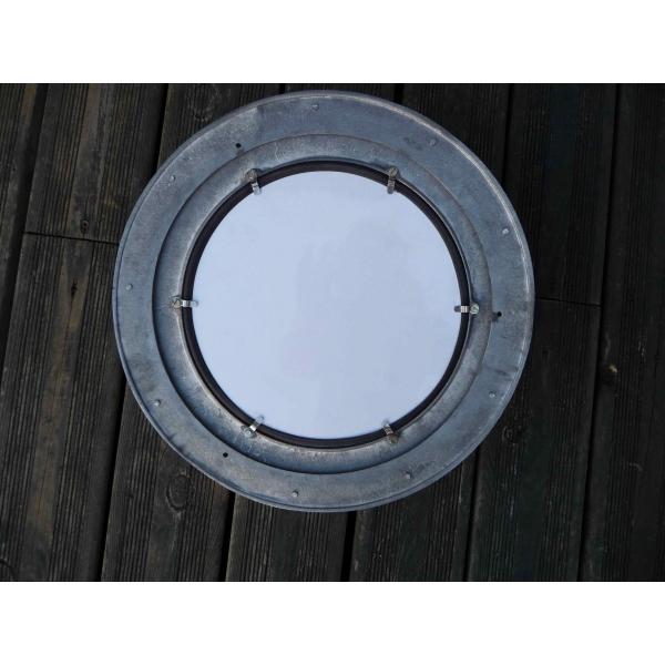 Hublot miroir aluminium ouvrant 30cm for Hublot ouvrant encastrable