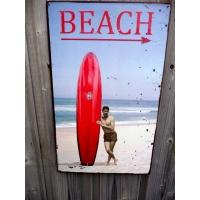 surf plaque metal happy hours beach bar