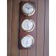 Station 3 cadrans laiton pendule baromètre thermomètre hygromètre