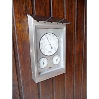 Station météo extérieure 3 cadrans inox baromètre thermomètre hygromètre