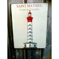 Plaque metal phare saint mathieu