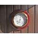 Baromètre thermomètre hygromètre laiton socle bois